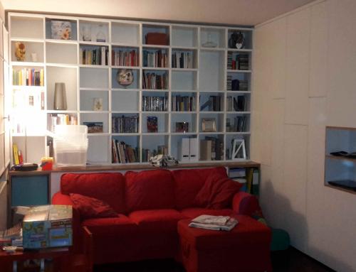 Mobile soggiorno e libreria su misura